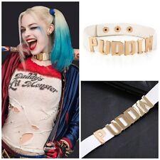Collana collarino choker regolabile PUDDIN Harley Quinn Suicide Squad Oro/Bianco