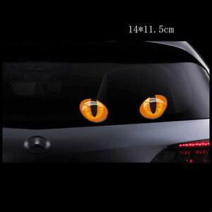 Pair 3D Cat's eye Decals Cat Eye Reflection Body Rear Window Stickers