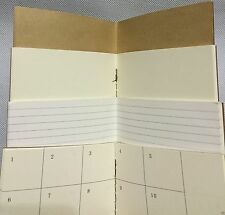 6X4 1 Blank Paper Refills Inserts For Medium Traveler's Journal Diary Note Book