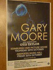 Gary Moore - Edinburgh/Aberdeen oct.2009 tour concert gig poster