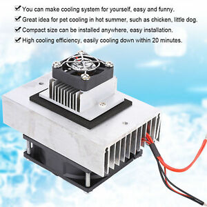 Thermoelectric Peltier Refrigeration Semiconductor Cooling System Cooler DIY