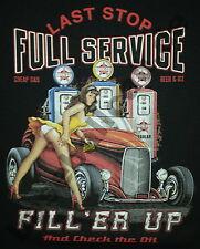 T-Shirt #625 FULL SERVICE OLDSCHOOL HOTROD Dragster Pin Up V8 Rockabilly