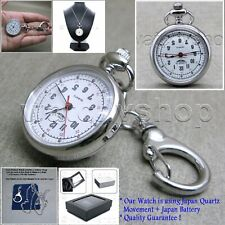 09e89272497 Silver Women Brass Pocket Pendant Watch 2 Ways Key Chain and Necklace Gift  L45