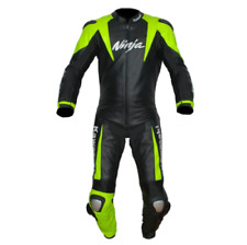 Kawasaki Ninja Motorbike Racing Leather Suit Available In All Sizes
