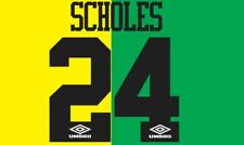 Scholes, #24 Manchester United 1993-1994 Newton Heath Camiseta de fútbol del para