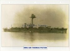 1915 HMS SIR THOMAS PICTON Coastal Monitor Ship GB Warship Photograph Maxi Card