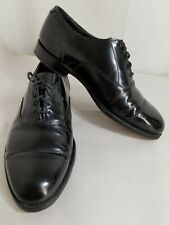 Hanover Shoes Mens Size 9EEE Black Cap Toe Oxford Business Dress calf skin