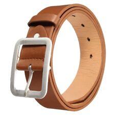 Men's Waistband Casual Dress Leather Buckle Belt Waist Strap Belts Coffee W O1L6
