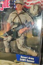 """GI Joe 1:6 Desert Army SAWS Gunner 12"""" ACTION FIGURE ~ 2002 ~ NEW"""