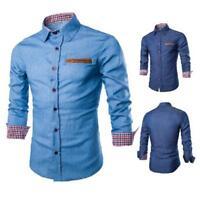 Men's Fashion Formal Business Shirts Casual Luxury Slim Long Sleeve Dress Shirts