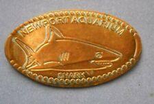 Newport Aquarium elongated penny Kentucky USA cent Shark souvenir coin