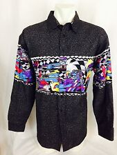 Drag Racing Pattern Western Shirt. NWOT. Men's XL.