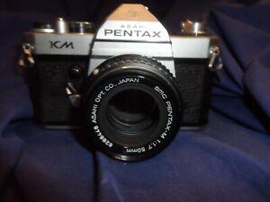 Pentax KM single lens reflex 35 mm film camera, working, no case