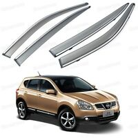 Window Visor Vent Shade Rain/Sun/Wind Guard for Nissan Dualis 2010-2013 11 12