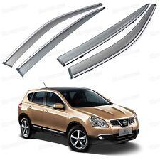 Window Visor Vent Shade Rain/Sun/Wind Guard for Nissan Dualis 2010-2013 11 12