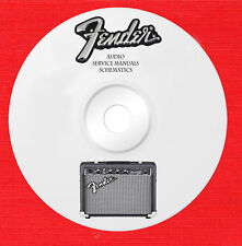 Fender Audio Repair Service owner manuals and schematics on 1 dvd in pdf format