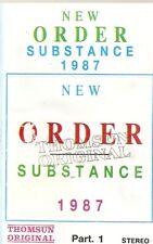 New Order  Substance 1987 Part 1 Import Cassette Tape