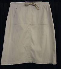 Unifarbene Damenröcke im A-Linien-Stil aus Baumwolle für Business-Anlässe