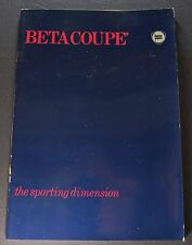 1977-1978 Lancia Beta Coupe Brochure 1300 1600 2000 English Text Excellent Orig