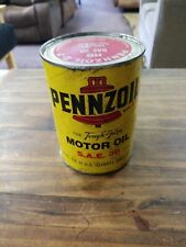 PENNZOIL TOUGH FILM MOTOR OIL 1 QUART PAPER CAN SAE 30 empty can