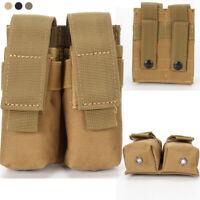 9MM Magazintasche Close Holster 600D Tactical Molle Dual Doppelpistole Mag Bag