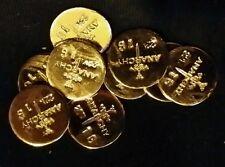 1 GRAM BAR USA BULLION 1g 22K PLACER FINE GOLD ROUND FROM MINE X LOT 180 ANARCHY