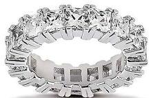 3.75 ct Princess Cut Diamond Ring 14k Gold Eternity Band F-G Vs/Si1 0.17 ct each