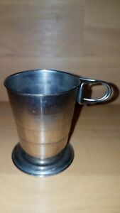"""C F Rumpp and Sons: 3"""" x 2.5"""" COLLAPSIBLE CUP with Leather Case   181204016"""