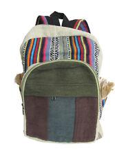 Heavy Duty Ethnic Handmade Multipocket Himalaya Pure Hemp Large Backpack #2