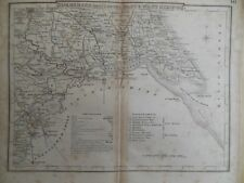Antiquarian Map of Yorkshire East/West Riding - c1820 - England - inc Doncaster
