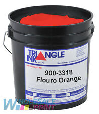 Triangle Ink 900-3318 Flouro Orange screen printing plastisol 1 Quart (946ml)