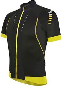 Zero RH+ Mens Phantom Cycling Jersey Medium Black Acid Yellow Road Bike Hi-Vis