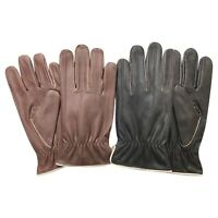 Prime Fashion Dressing Lined Gloves Crunch Napa Leather Stylish Look 085