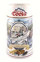 "Vintage Coors The Rocky Mountain Legend Series Collectible 7"" Beer Stein 1991"
