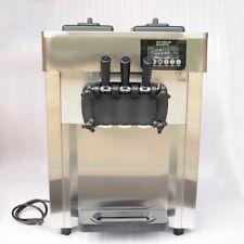 Nzl 110V Commercial Auto Frozen Soft Ice Cream Cone Maker Machine 3 Flavor 1700W