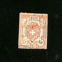 Switzerland Stamps # 13 VF Used Catalog Value $1,150.00