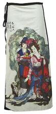 Peasant Boho Hippie Gypsy Art Print Wrap Skirt, Japanese Ladies - SW090
