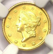 1849-O Liberty Gold Dollar Coin G$1 - NGC Uncirculated Detail - Rare MS UNC Coin