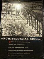 Architectural Record Magazine single issues 1963 - 2003