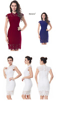 New elegant cocktail bodycon all lace royal white burgandy sexy dress-MLXLXXL