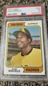 1974 Topps Dave Winfield ROOKIE RC #456 PSA 5 EX