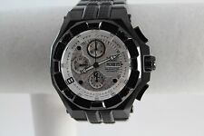 Renato Men's Mostro Watch, Valjoux 7750, Silver CF Dial, Black IP, Rare  6/50!