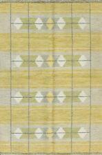 """5'6"""" x 7'8"""" Incredible Swedish Kilim Carpet, Great Colors. #16603"""