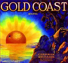 El Mirador Placentia Chapman Gold Coast Orange Citrus Fruit Crate Label Print