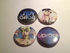 LADY GAGA -  SET OF 4  -Button Badge 25mm # CD 44