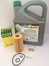 MANN FILTRO OLIO HU718/1 K MERCEDES-BENZ W210 S210 W211 S211 + 5 litri DBV 5W /