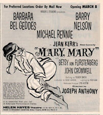 "1961 Helen Hayes Theatre Jean Kerr's 46th ""Mary, Mary"" Entertainment Print Ad"