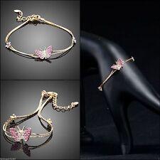 Modeschmuck-Armbänder im Ketten-Stil aus Metalllegierung mit Strass