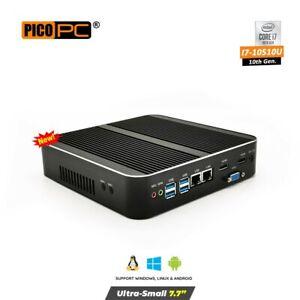 10th Gen. Intel® i7-10510U 2 LAN 3 Display Fanless Mini PC 32GB RAM / 512 SSD