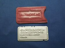 Vintage Charga-Plate Token Baltimore MD W/ Red Cover - Early Credit Card